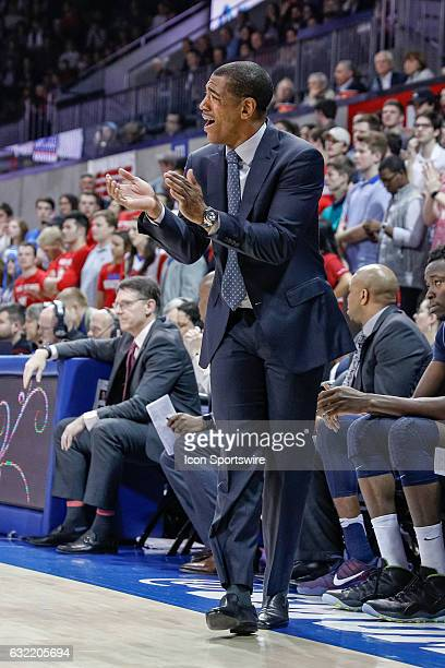 Connecticut Huskies head coach Kevin Ollie during the NCAA basketball game between the University of Connecticut Huskies and SMU Mustangs on January...