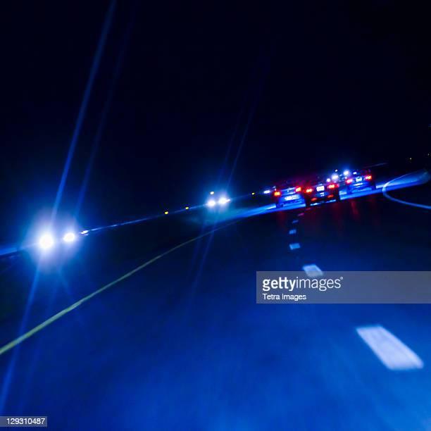 USA, Connecticut, Night traffic