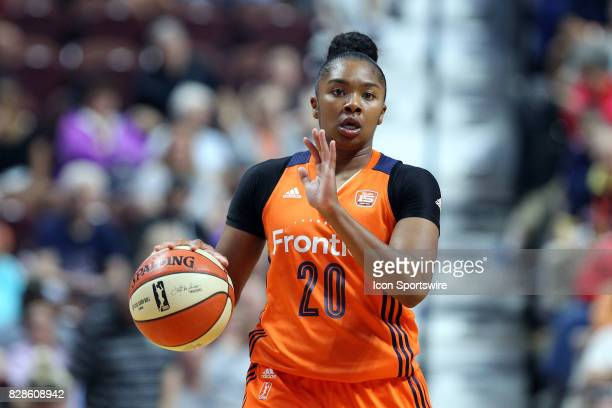 Connecticut Sun guard Alex Bentley in action during the second half of an WNBA game between Seattle Storm and Connecticut Sun on August 8 at Mohegan...