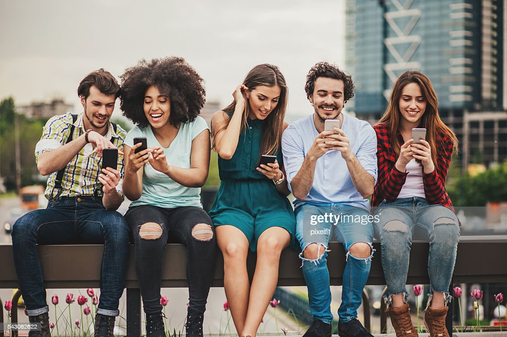Connecting and sharing : Stock Photo