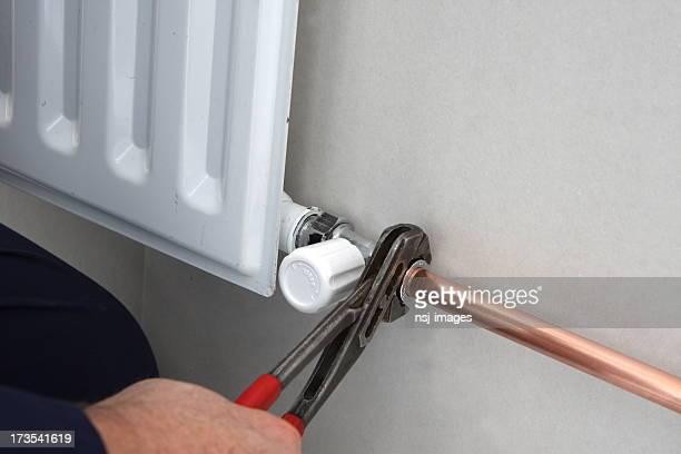 copper pipe zu Heizkörper mit Verbindungstür