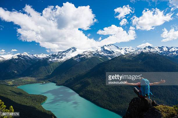 connecting with the great outdoors - garibaldi park stock pictures, royalty-free photos & images