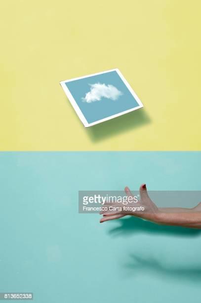 connection in the air - bota fotografías e imágenes de stock