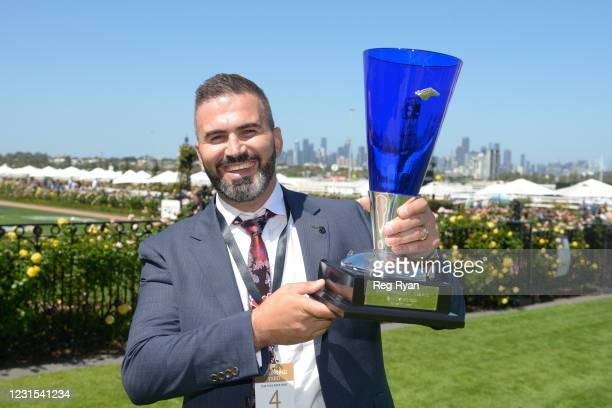 Connection of Lightsaber after winning the MSS Security Sires' Produce Stakes, at Flemington Racecourse on March 06, 2021 in Flemington, Australia.