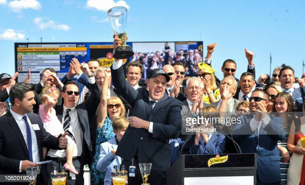 Connections of Amphitrite after winning the Schweppes Thousand Guineas at Caulfield Racecourse on October 13 2018 in Caulfield Australia