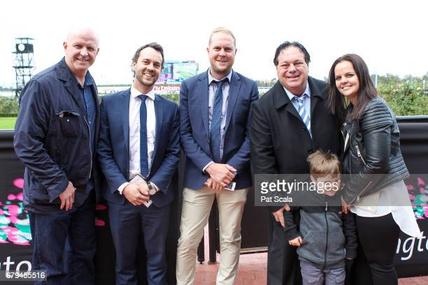 Connections of Articus after winning Chairman's Club Handicapat Flemington Racecourse on May 06 2017 in Flemington Australia