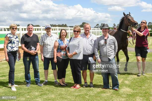 Connections of Avanti Rose after winning the Hargreaves Hill Brewery Class 1 Handicap at Yarra Valley Racecourse on January 09 2018 in Yarra Glen...