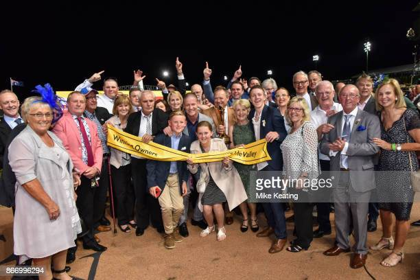 Connections of Hey Doc after winning the Ladbrokes Manikato Stakes at Moonee Valley Racecourse on October 27 2017 in Moonee Ponds Australia