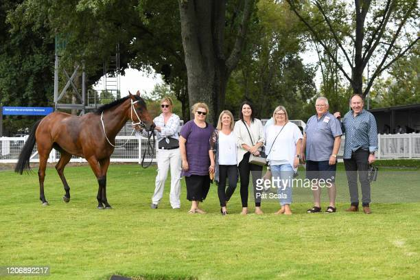 Connections of Mamelon after winning the bet365 Maiden Plate at Kyneton Racecourse on March 13 2020 in Kyneton Australia