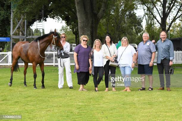 Connections of Mamelon after winning the bet365 Maiden Plate ,at Kyneton Racecourse on March 13, 2020 in Kyneton, Australia.
