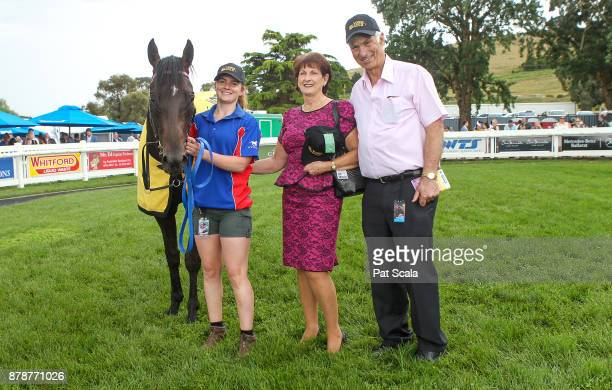Connections of Tezlah after winning Hertz Ballarat VOBIS Gold Eureka Stockadeat SportsbetBallarat Racecourse on November 25 2017 in Ballarat Australia
