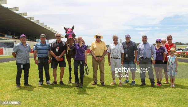Connections of Tuff Bickie after winning Chandler Macleod Handicapat Ladbrokes Park Lakeside Racecourse on January 10 2018 in Springvale Australia
