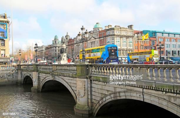 O'Connell Bridge River Liffey city of Dublin Ireland Irish Republic