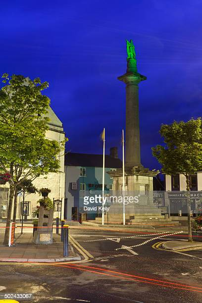 Connell Monument at night Ennis Co Clare Ireland