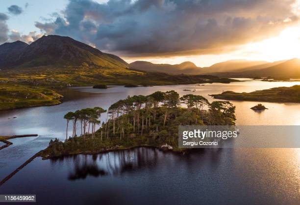 connemara pine island - national landmark stock pictures, royalty-free photos & images