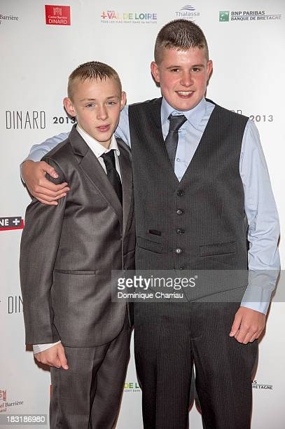 Conner Chapman and Shaun Thomas attend the Dinard British film festival closing ceremony on October 5 2013 in Dinard France