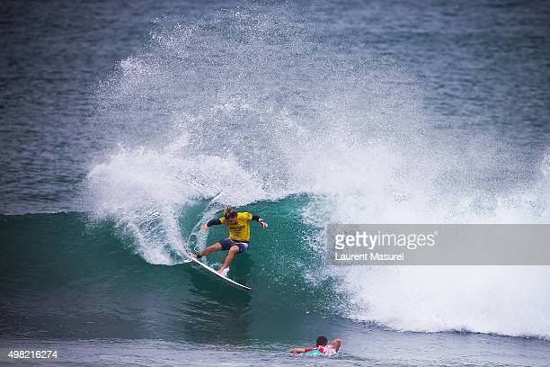 e5a6e339f7 Conner Coffin of USA surfs in round of 32 of the Hawaii Pro 2015 on November
