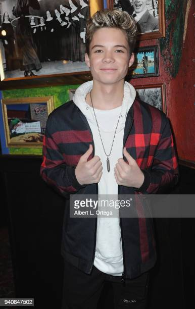 Conner Finnerty celebrates Connor Shane's Birthday held at Buca Di Beppo at Universal CityWalk on March 31 2018 in Universal City California