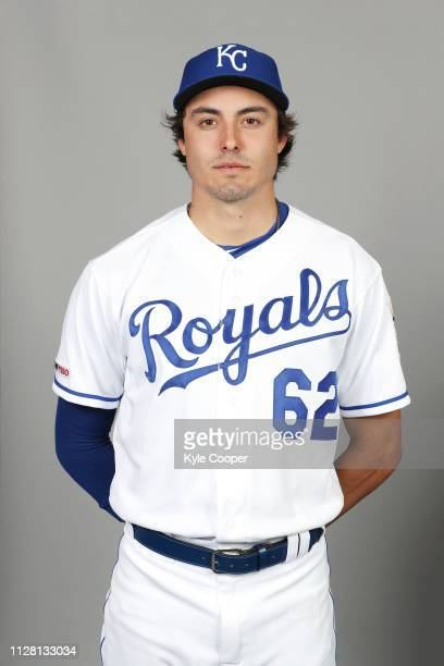 Conner Greene of the Kansas City Royals poses during Photo Day on Thursday February 21 2019 at Surprise Stadium in Surprise Arizona