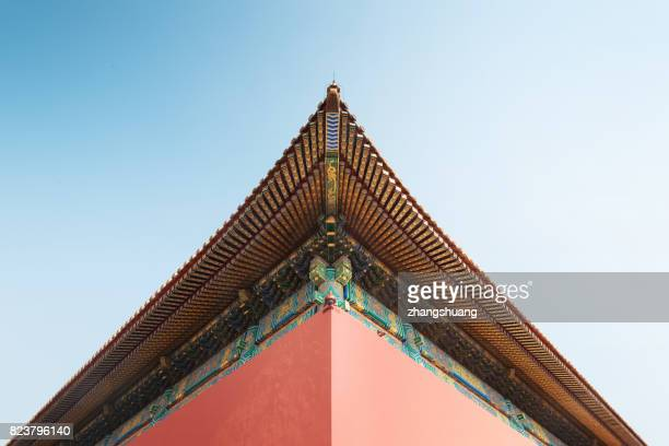 conner of the forbidden city, beijing - temple of heaven stock pictures, royalty-free photos & images