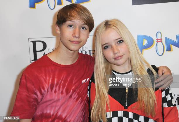 Conner Shane and Elam Roberson attend the Birthday Party For Elam Roberson held at Pinz Bowling on March 21 2018 in Los Angeles California