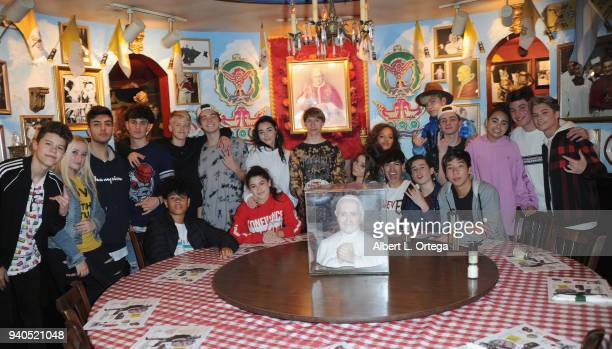 Conner Shane and friends celebrate his birthday held at Buca Di Beppo at Universal CityWalk on March 31 2018 in Universal City California