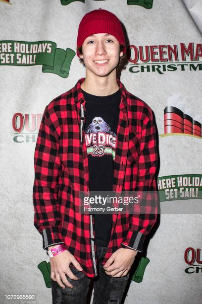 Conner Shane arrives at Queen Mary Christmas Media VIP Night at Queen Mary Events Park on November 26 2018 in Long Beach California