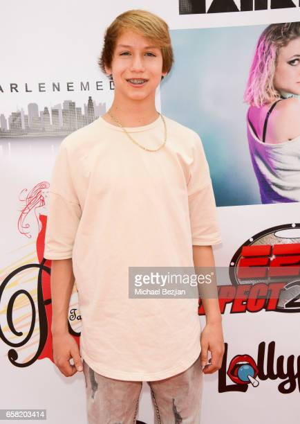 Conner Shane arrives at Teen Recording Artist Mahkenna's Sweet 16/Expect2Win Extravaganza at ANC Productions on March 26 2017 in Burbank California