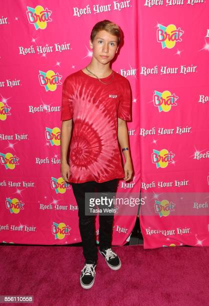 Conner Shane at Rock Your Hair Presents Rock Back to School concert and party on September 30 2017 in Los Angeles California