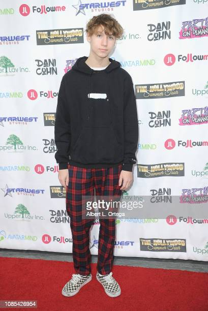 Conner Shane attends Danielle Cohn's Music Video Release Party For Lights Camera Action held at Starwest Studios on January 19 2019 in Burbank...