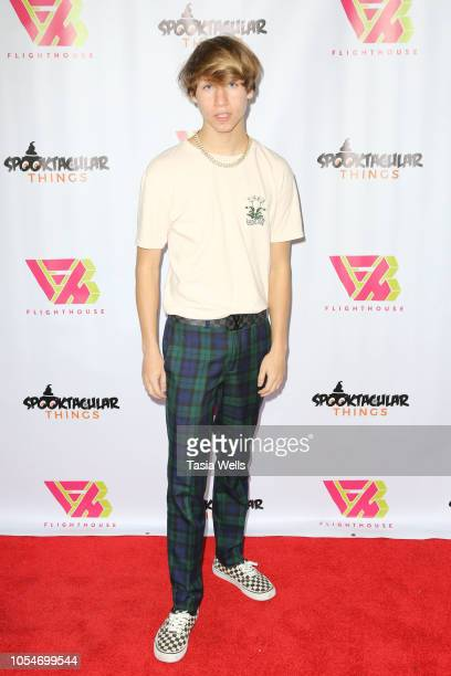 Conner Shane attends Spooktacular Things concert and meet greet at the Echoplex on October 28 2018 in Los Angeles California