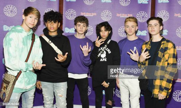 Conner Shane Zion Sapong Mikey Tua Landon Barker JoJo Tua and Caden Conrique attend Hayden Summerall's 13th Birthday Bash at Bardot on April 15 2018...