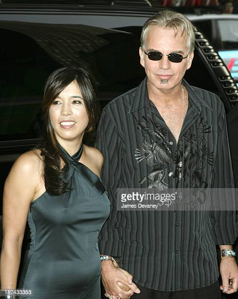 Connie Angland and Billy Bob Thornton during Bad News Bears New York City Premiere Outside Arrivals at Ziegfeld Theater in New York City New York...