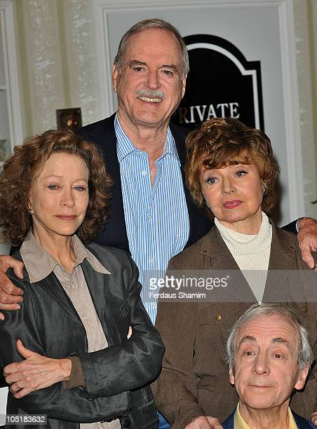 Connie Booth John Cleese Prunella Scales and Andrew Sachs attend GOLD's Fawlty Towers relaunch on May 6 2009 in London England