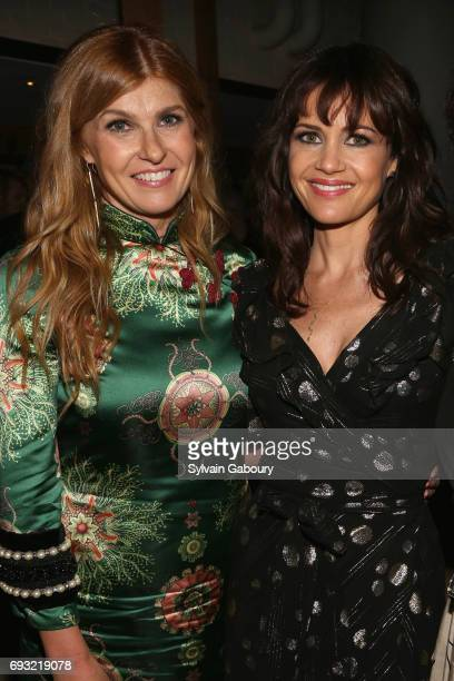 Connie Britton and Carla Gugino attend Gucci The Cinema Society host the after party for Roadside Attractions' 'Beatriz at Dinner' on June 6 2017 in...
