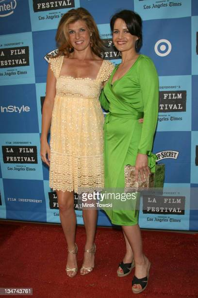Connie Britton and Carla Gugino during 2006 Los Angeles Film Festival The Lather Effect Premiere at Mann Festival Theatre in Westwood California...