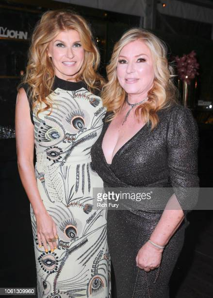 Connie Britton and Debra Newell attend the after party for Bravo's anthology series Dirty John world premiere at NeueHouse Los Angeles on November 13...