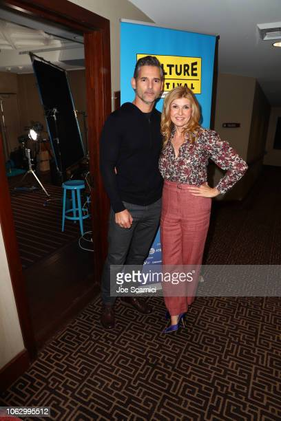 Connie Britton and Eric Bana attend 'Dirty John' during Vulture Festival presented by ATT at Hollywood Roosevelt Hotel on November 17 2018 in...