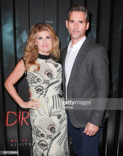 Connie Britton and Eric Bana attend the after party for Bravo's anthology series 'Dirty John' world premiere at NeueHouse Los Angeles on November 13...