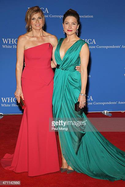 Connie Britton and Sophia Bush attend the 101st Annual White House Correspondents' Association Dinner at the Washington Hilton on April 25 2015 in...