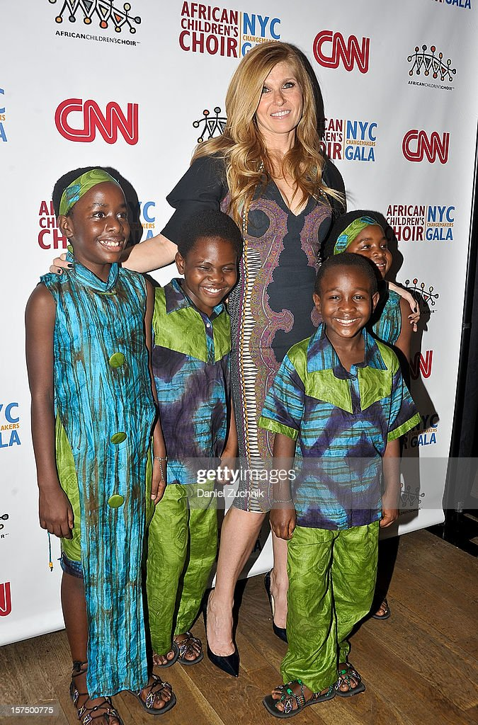 Connie Britton and the African Children's Choir attend the 4th annual African Children's Choir Fundraising Gala at City Winery on December 3, 2012 in New York City.