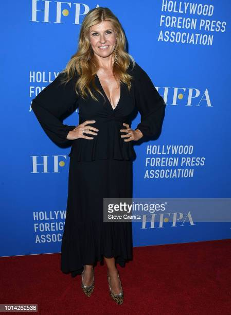 Connie Britton arrives at the Hollywood Foreign Press Association's Grants Banquet at The Beverly Hilton Hotel on August 9 2018 in Beverly Hills...