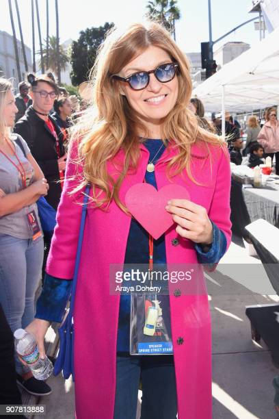 Connie Britton at 2018 Women's March Los Angeles at Pershing Square on January 20 2018 in Los Angeles California