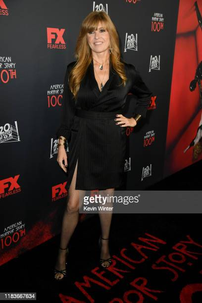 Connie Britton attends FX's American Horror Story 100th Episode Celebration at Hollywood Forever on October 26 2019 in Hollywood California