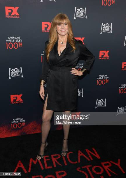"""Connie Britton attends FX's """"American Horror Story"""" 100th Episode Celebration at Hollywood Forever on October 26, 2019 in Hollywood, California."""