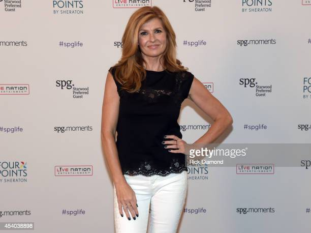 Connie Britton attends Starwood Preferred Guest's Hear The Music See The World featuring Kellie Pickler at Four Points By Sheraton NashvilleBrentwood...