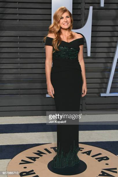 Connie Britton attends the 2018 Vanity Fair Oscar Party hosted by Radhika Jones at Wallis Annenberg Center for the Performing Arts on March 4 2018 in...