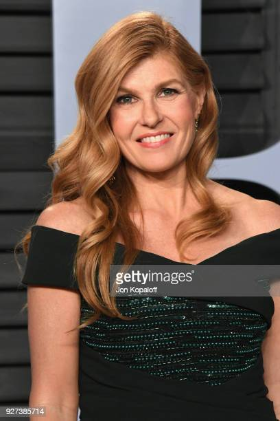 Connie Britton attends the 2018 Vanity Fair Oscar Party hosted by Radhika Jones at Wallis Annenberg Center for the Performing Arts on March 4, 2018...