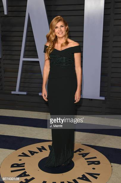 Connie Britton attends the 2018 Vanity Fair Oscar Party hosted by Radhika Jones at the Wallis Annenberg Center for the Performing Arts on March 4...