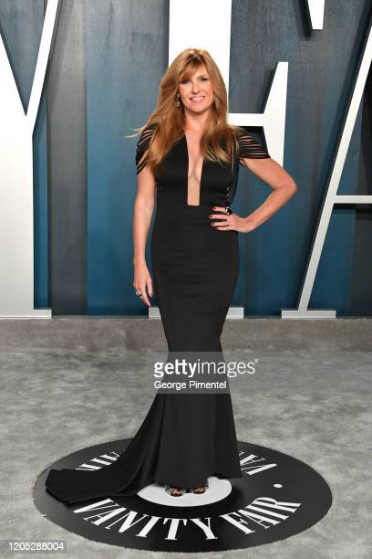 Connie Britton attends the 2020 Vanity Fair Oscar party hosted by Radhika Jones at Wallis Annenberg Center for the Performing Arts on February 09,...
